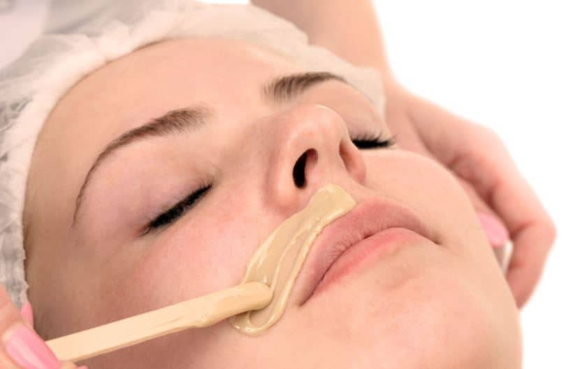 Lip hair waxing